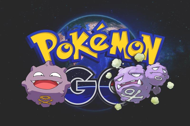 Capturar a koffing y weezing en Pokemon GO